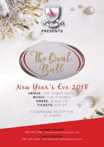 Waterpark RFC presents the Oval Ball on New Years Eve 2018